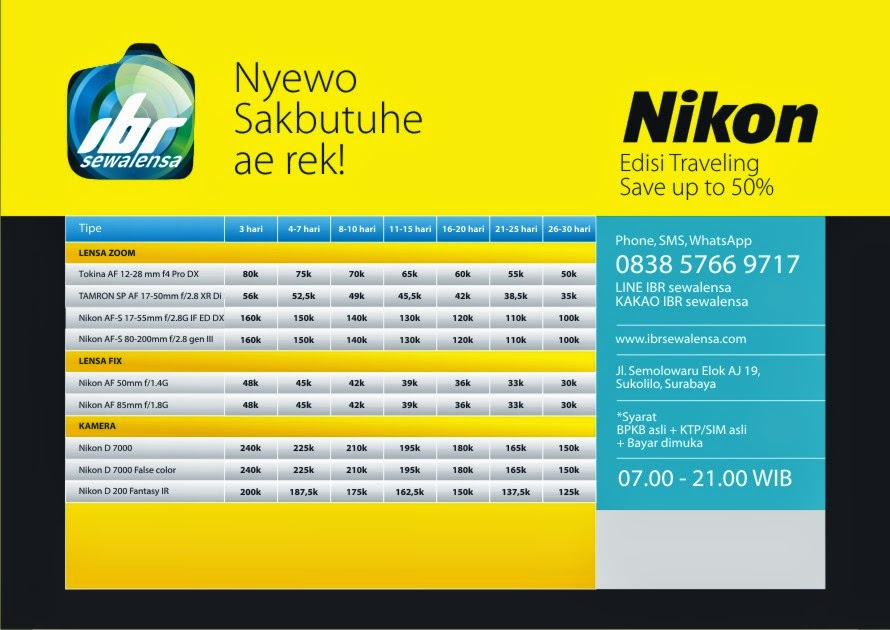 Nikon Paket Traveling