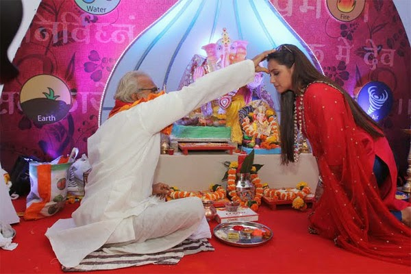 Rani Mukerjee celebrates Ganesh Chaturthy at home