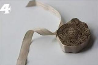 Descanso de panela feito de papelão