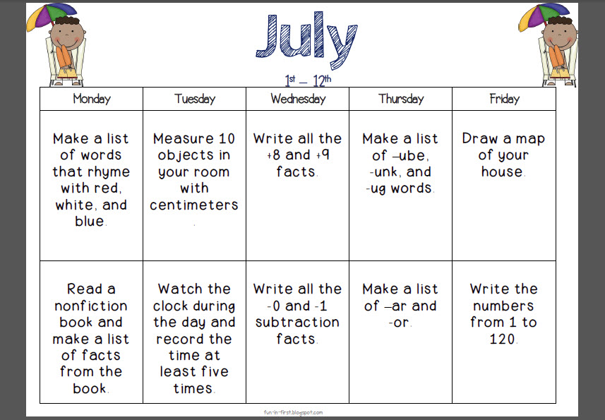 Calendar Ideas For July : Calendar may kids search results