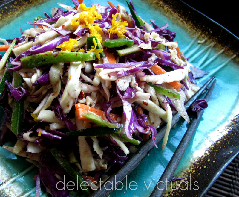 zucchini cole slaw orange dressing