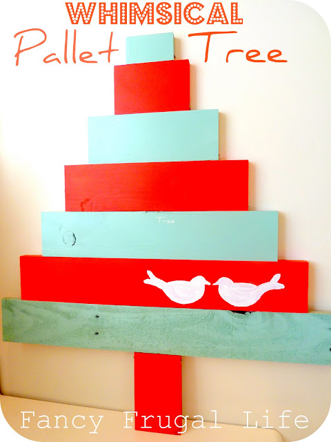 DIY Pallet Christmas Tree - Sock Vase Centerpiece + Painted Branches - 25 Handmade Christmas Ideas over at the36thavenue.com
