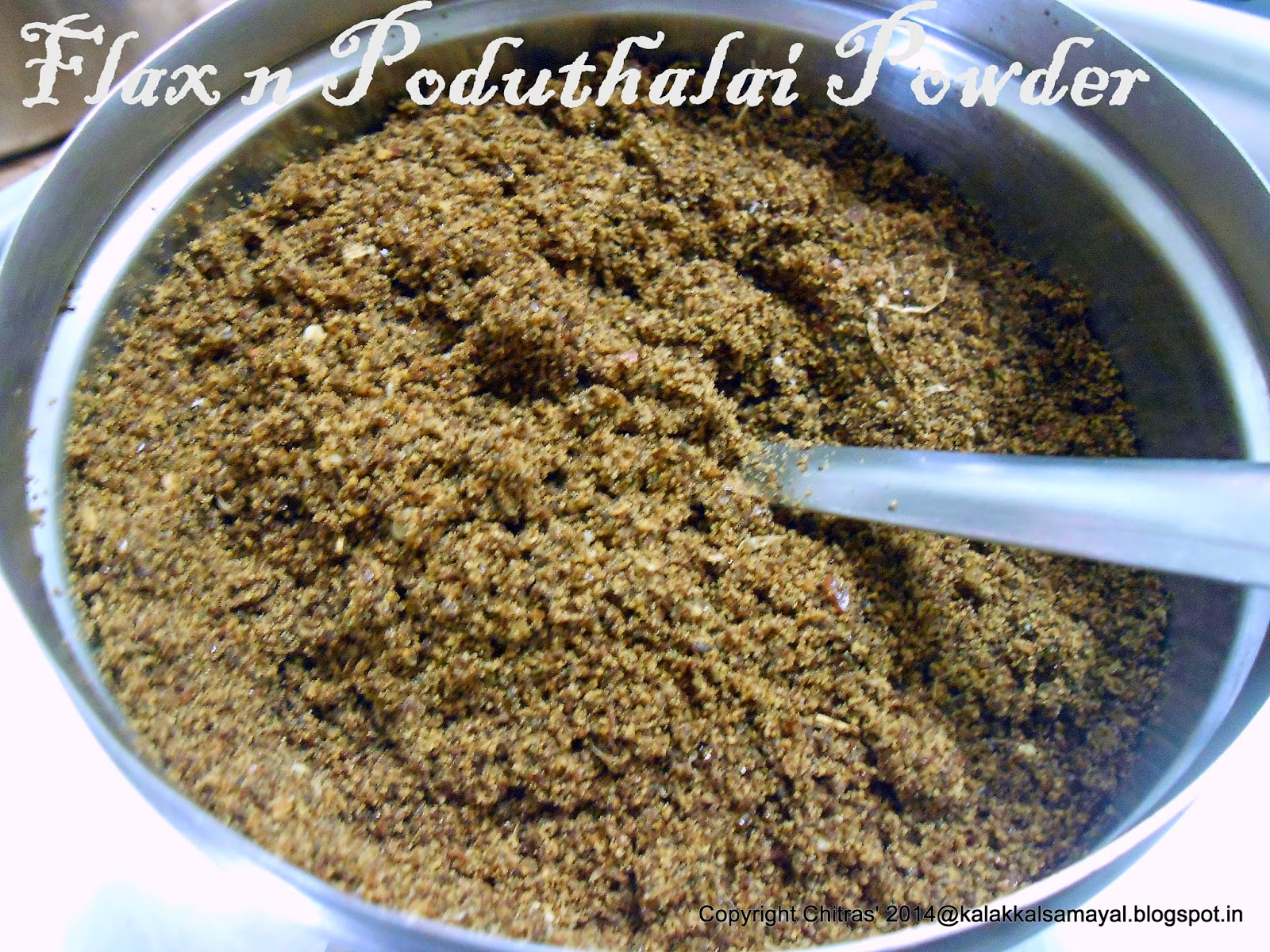 Flax and Poduthalai Powder for rice