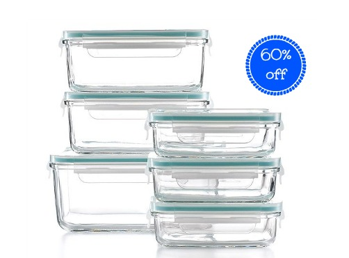 Coupon STL Martha Stewart Collection 12 Piece Glass Food Storage