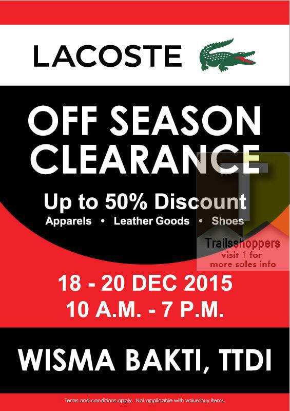Lacoste Off Season Clearance Sale wisma bakti ttdi