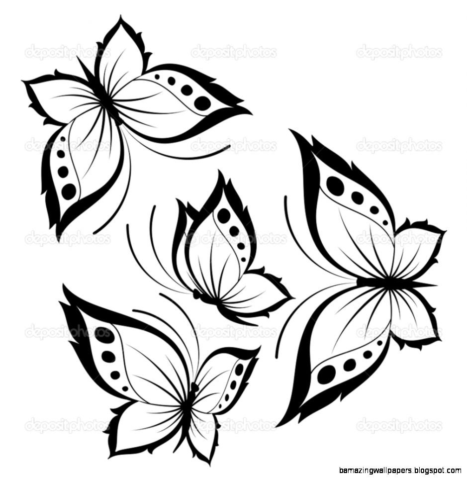 Beautiful butterflies for a design — Stock Vector © Forewer 7382035