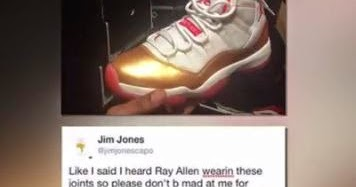 721d78380a9ed8 THE SNEAKER ADDICT  Jim Jones Addresses Sneakerheads on IG Going In About  Owning Fake Ray Allen 11 PEs