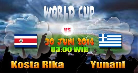 PREVIEW Pertandingan Kosta Rika vs Yunani 30 Juni 2014 Dini Hari