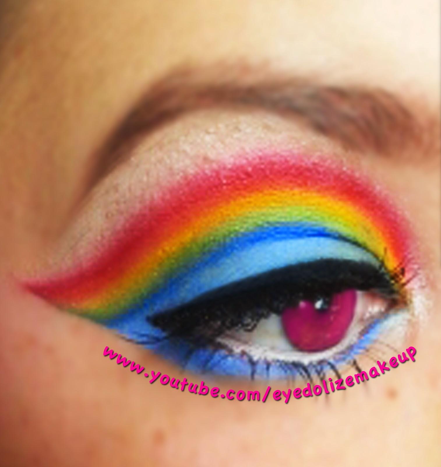 Eyedolize makeup my little pony series rainbow dash rainbow dash my little pony inspired makeup eyeshadow tutorial by eyedolizemakeup baditri Images