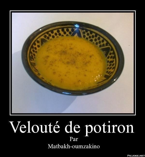 Velouté de potiron par matbakh-oumzakino