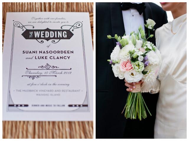 DIY meets art deco wedding in New Zealand