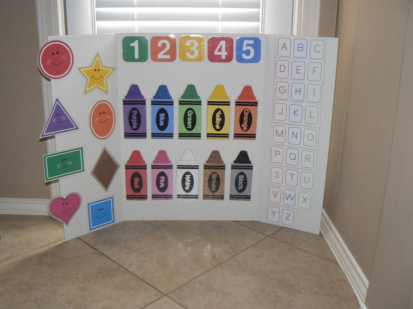 Ourhomecreations preschool learning board for Educational crafts for preschoolers