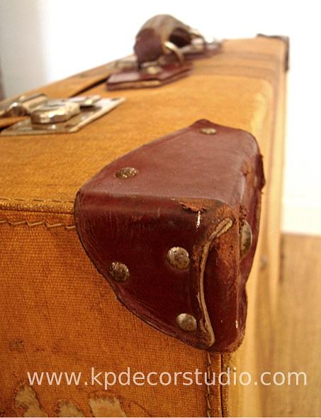 Decorando con maletas viejas de los años 40-50-60
