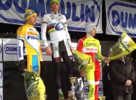 Le podium du Kasteelcross 2014