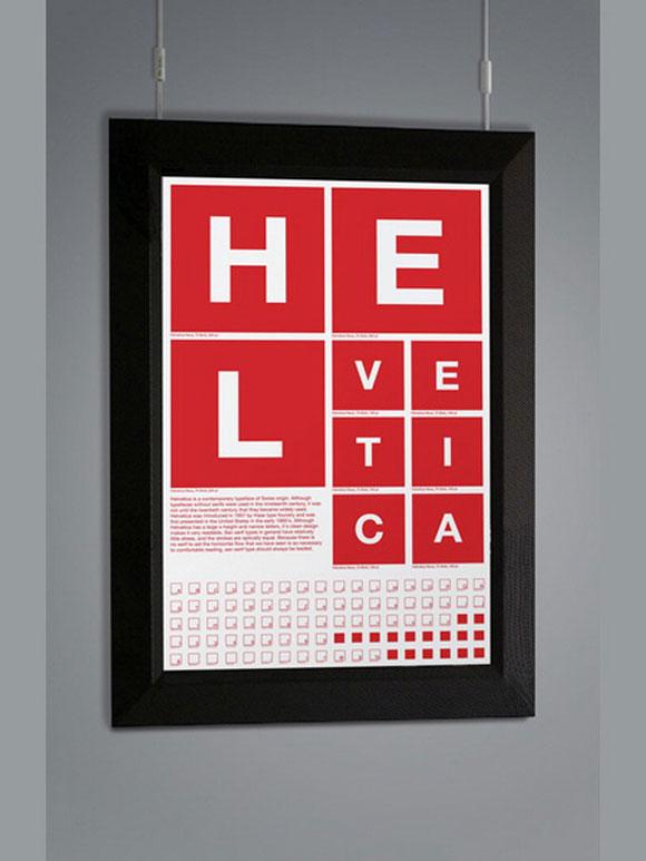 25 helvetica poster design for inspiration