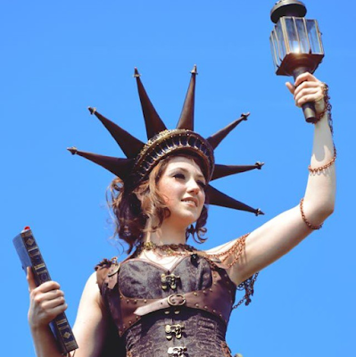 womens fashion costume steampunk statue of liberty crown