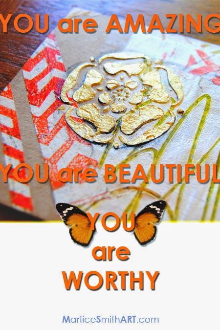 """YOU are Worthy"" Inspirational poster by Artist & Designer Martice Smith II"
