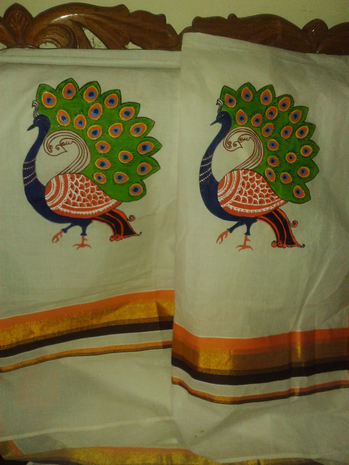 Mural paintings on fabric for Aithihya mural painting fabrics