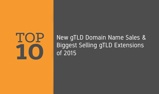 Top 10 gTLD Domain Name Sales and Biggest Selling gTLDs of 2015