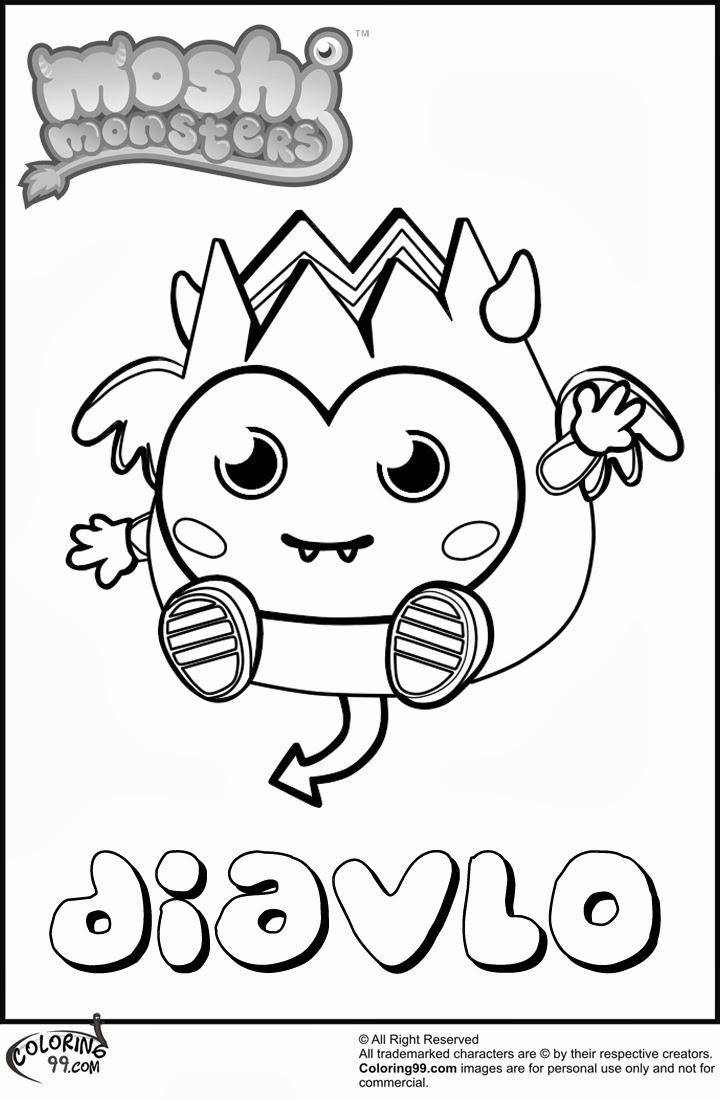 Moshi Monsters Diavlo Free Coloring