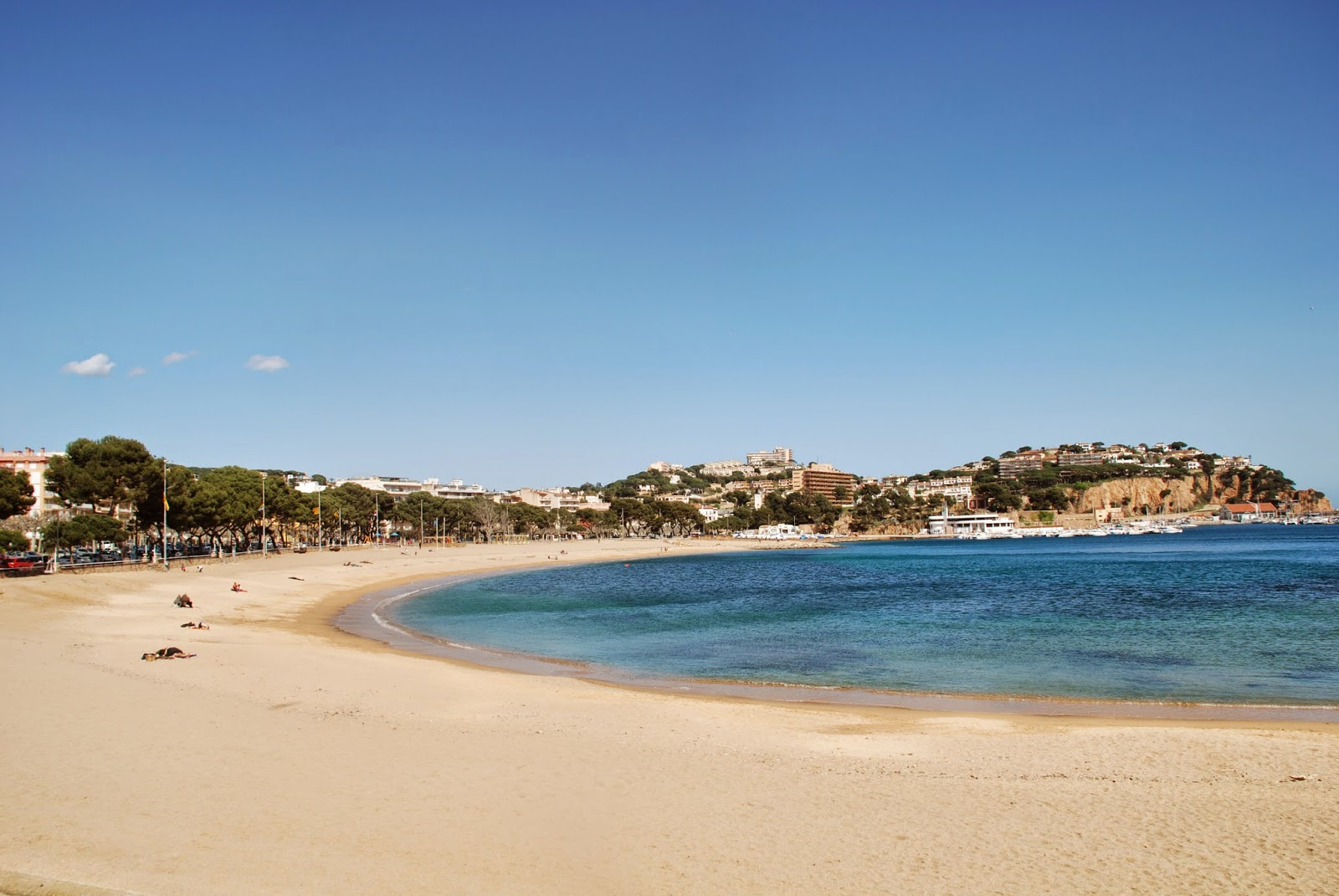 The beach, Sant Feliu de Guíxols, Catalonia