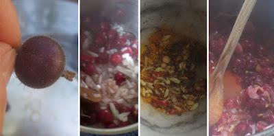 Zubereitung Stachelbeer-Chutney