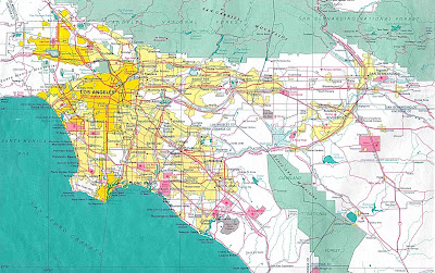 Large detailed map of Greater Los Angeles