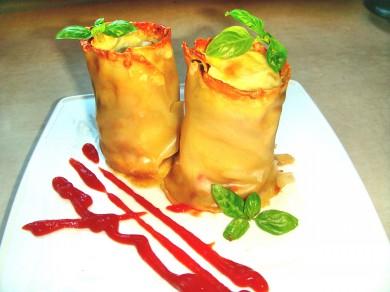 Grzybowa mini lasagne.