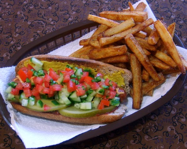 Chicago Dogs with Boardwalk Fries | Leafy Greens and Me
