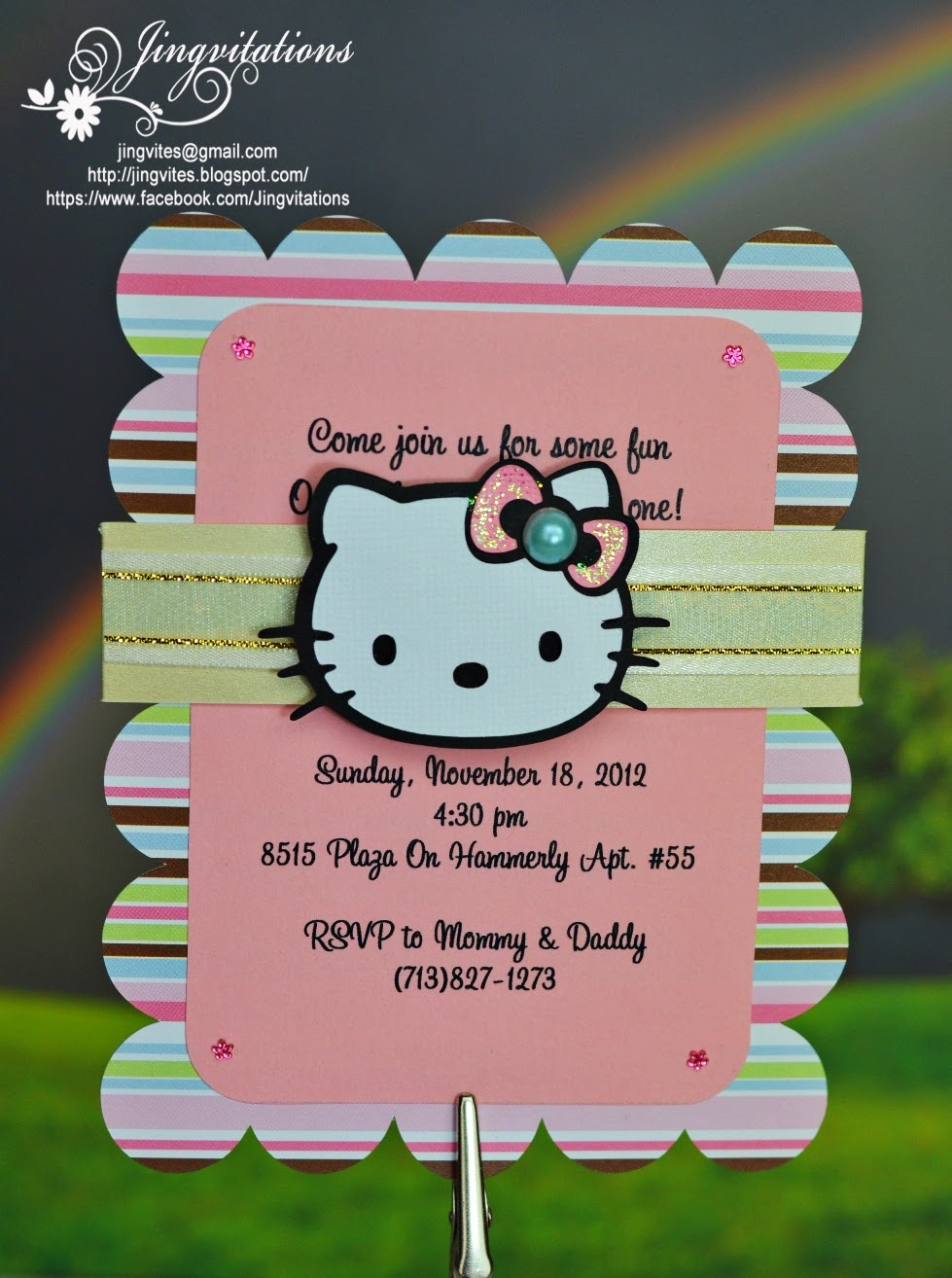 Jingvitations: Hello Kitty Baby Shower, Baptism, Birthday ...
