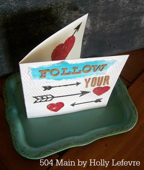 Paper Crafting: Follow Your Heart Card by 504 Main