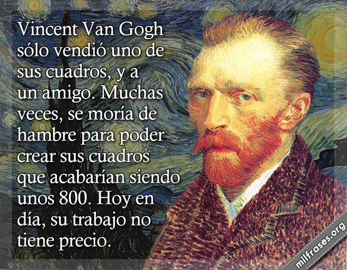 historias de motivaciones y superación personal, fracasos de los famosos, Vincent Van Gogh pintor neerlandés, fracasos de famosos de la historia