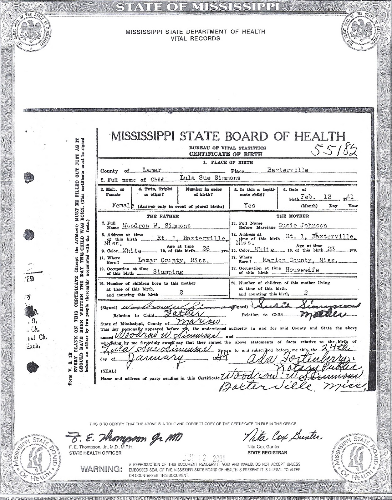 NEW APPLICATION FOR BIRTH CERTIFICATE MISSISSIPPI