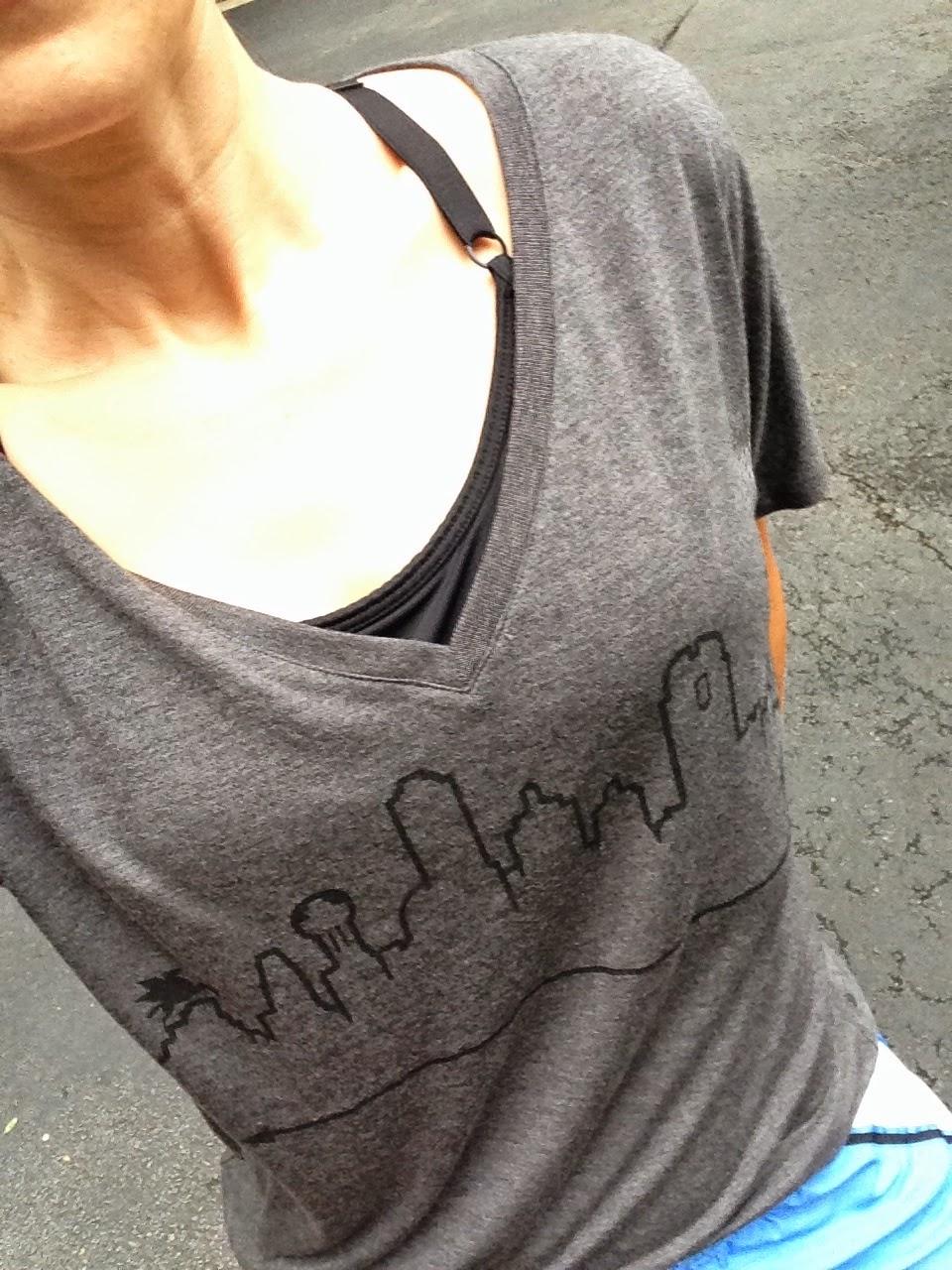 Outline the SKy, Dallas, T-Shirt, Workout CLothes