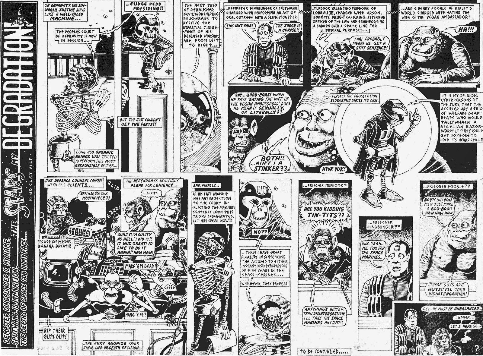 Figure 146: Alan Moore Parodies Abslom Daak's Sentencing In The Stars My  Degradation (alan Moore, As Curt Vile, 1980)