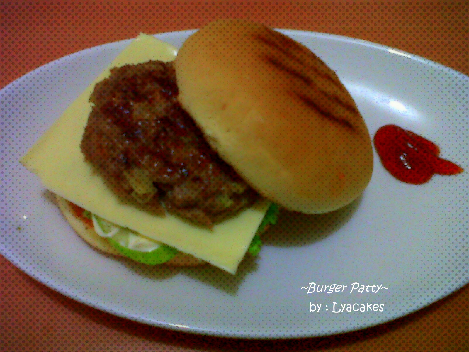 My dinning table burger patty for Table burger