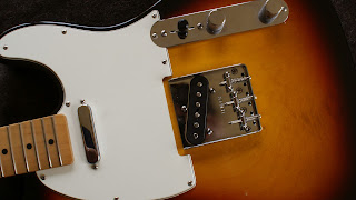 Fender Telecaster Mexico bridge change vintage upgrade headstock polish