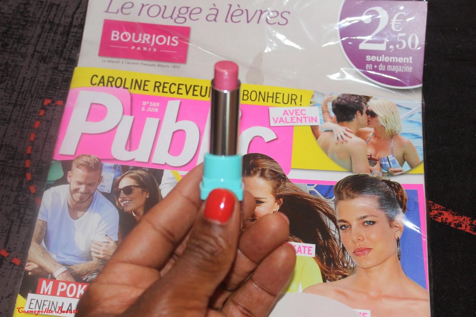 rouge à lèvres, Shine Edition, Bourjois, lèvres, bouche, magazine Public