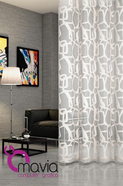 Arredamento di interni rendering 3d i rendering for Arredamento moderno tende