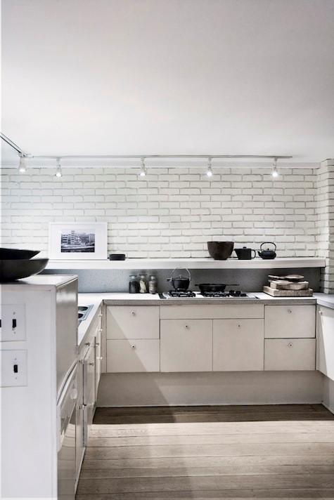 Cocinas con ladrillo visto blanco - Cocina de ladrillo ...