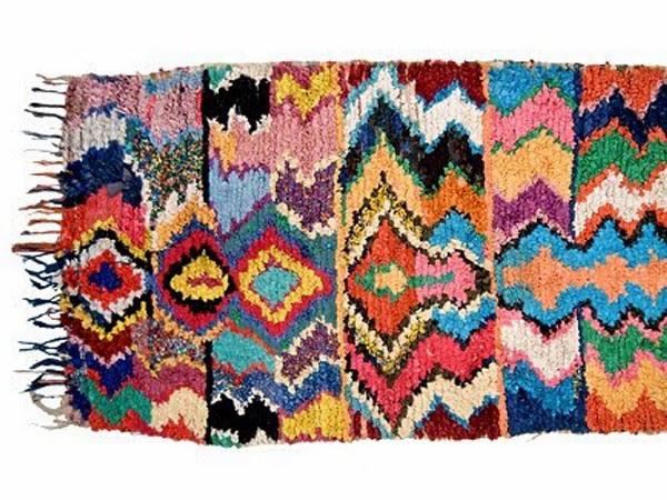 dywany marokańskie w kolorowe rąby