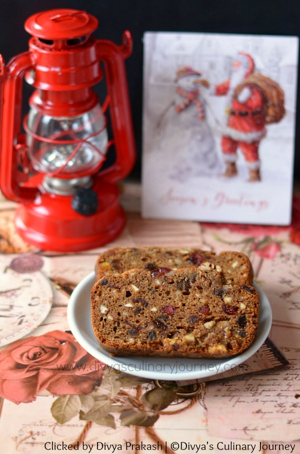 Christmas fruit cake, eggless fruit cake