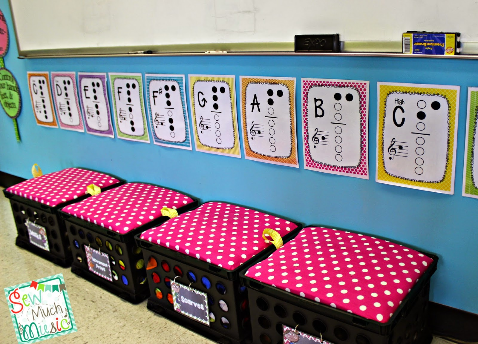 Classroom Decor Set Free : Sew much music my room set up