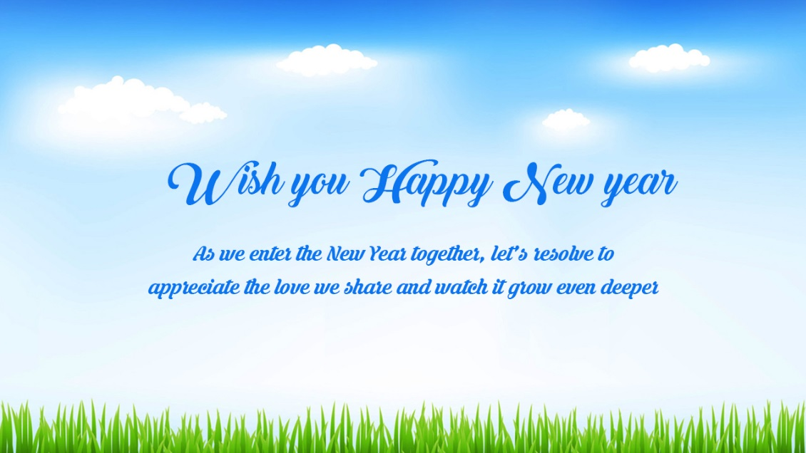 official new year greeting messages