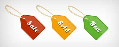 Three Shopping Tags
