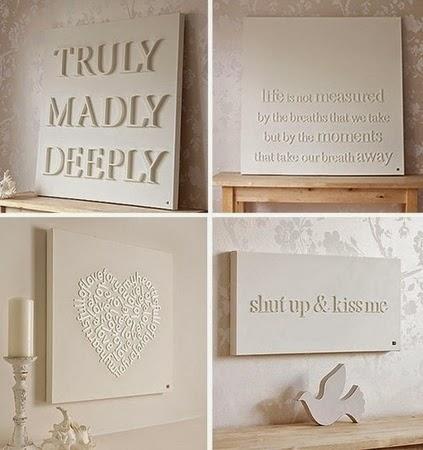 DIY, decora tus paredes, tipografias