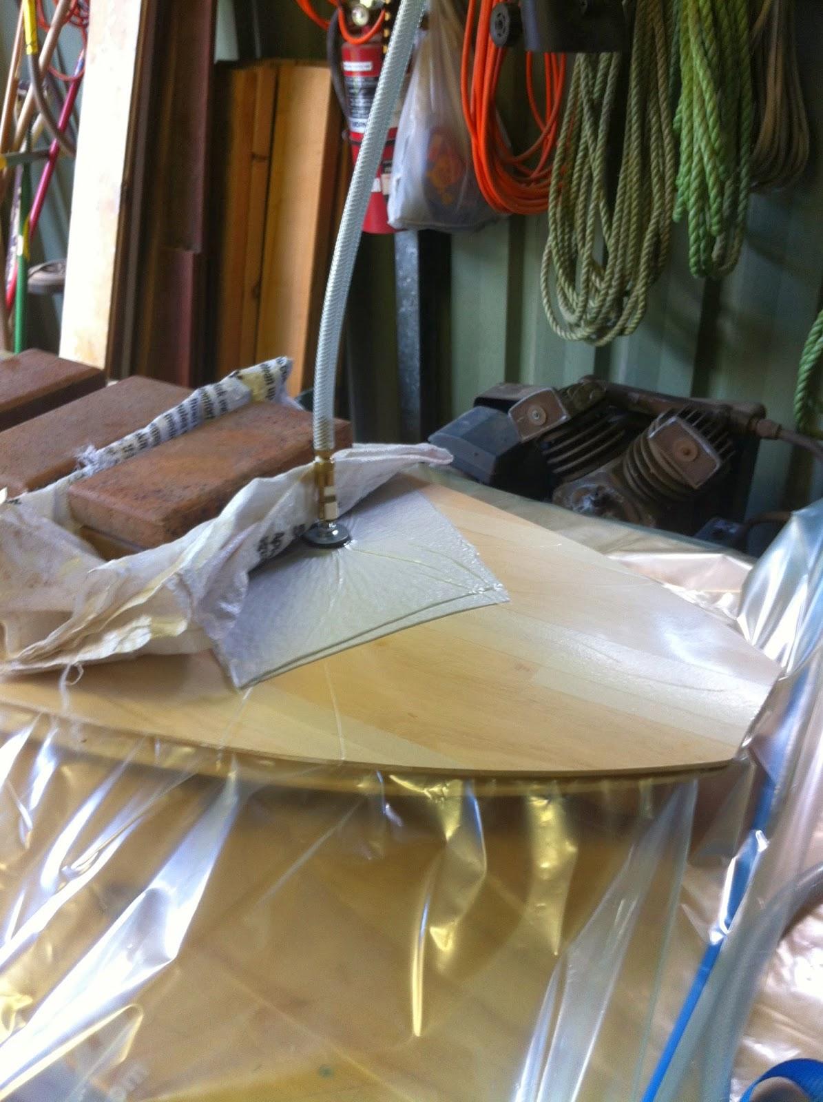 wooden surfboard vacuum bag