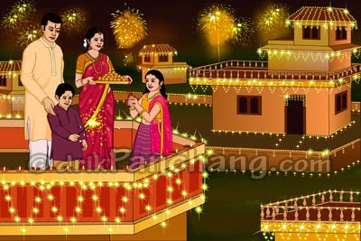 diwali a family tradition celebrated by the hindu people Diwali, the festival of lights, is celebrated in  while the story behind diwali and the manner of celebration  members of an indian hindu family .