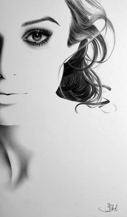 11-Artist-Ileana-Hunter-Minimalist-Hyper-Realistic-Portraits-www-designstack-co