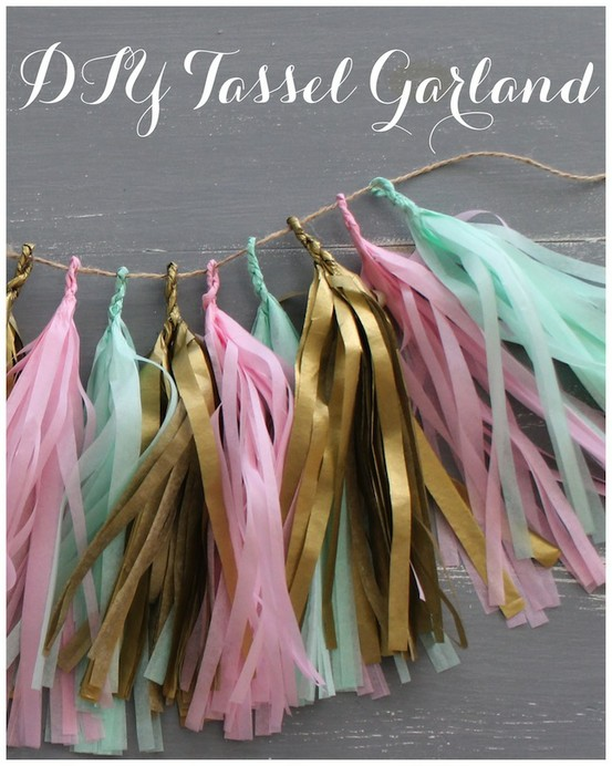 DIY tassel garlands made out of tissue paper